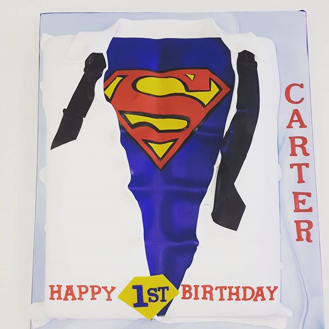 Superman Turns One (borrowed design with subtle changes)_#supermancake #1stbirthday