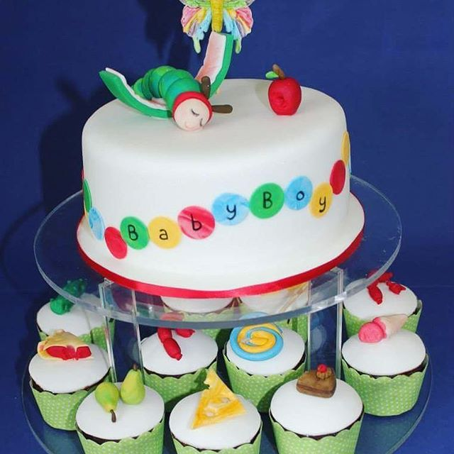Cassies Hungry Caterpillar _Baby shower cake of the cutest theme