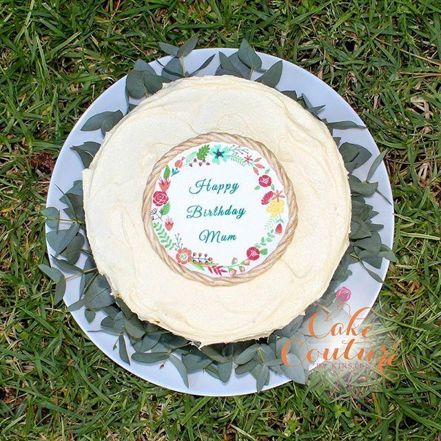 Happy Birthday Mamabear!_#60thbirthdaycake #picniclunch #vegancake #melbournevegan #melbourneveganca