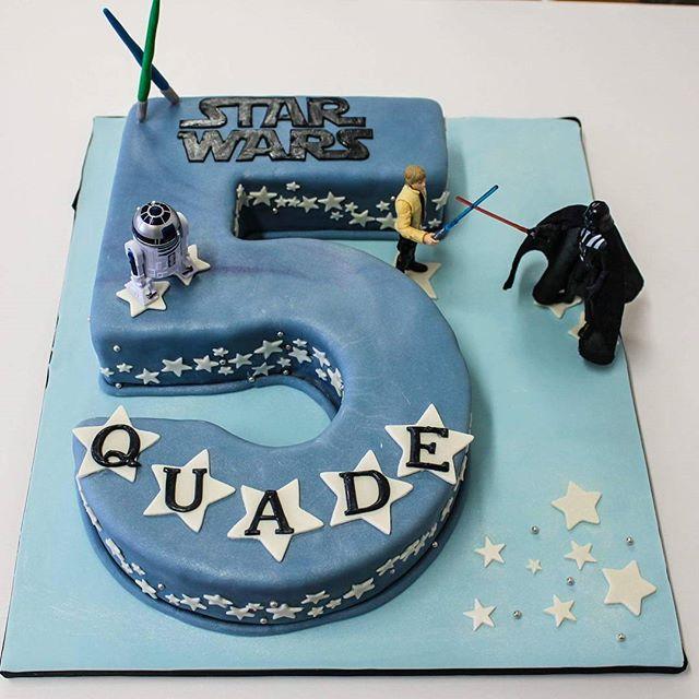 Star Wars_#5thbirthday #starwarscake #no