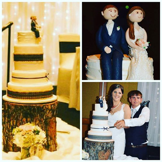 Hughes wedding _#weddingcakes #5tiercake #rusticweddingcake #brideandgroomtoppers #royalicing #tallc