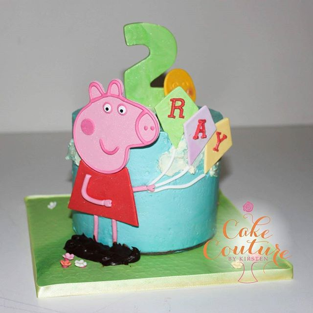 Peppe Pig for Ray_Cutest little Peppa pig cake for a 2nd birthday