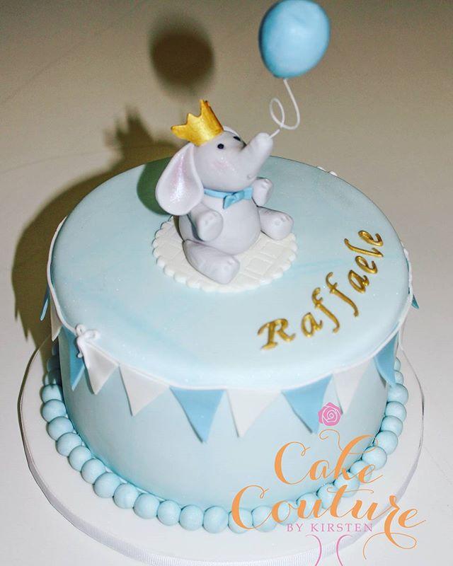 Raffaele turns One _#firstbirthday #babyboy #elephantfigurine #sugarballoon #prince #townsvilleparti