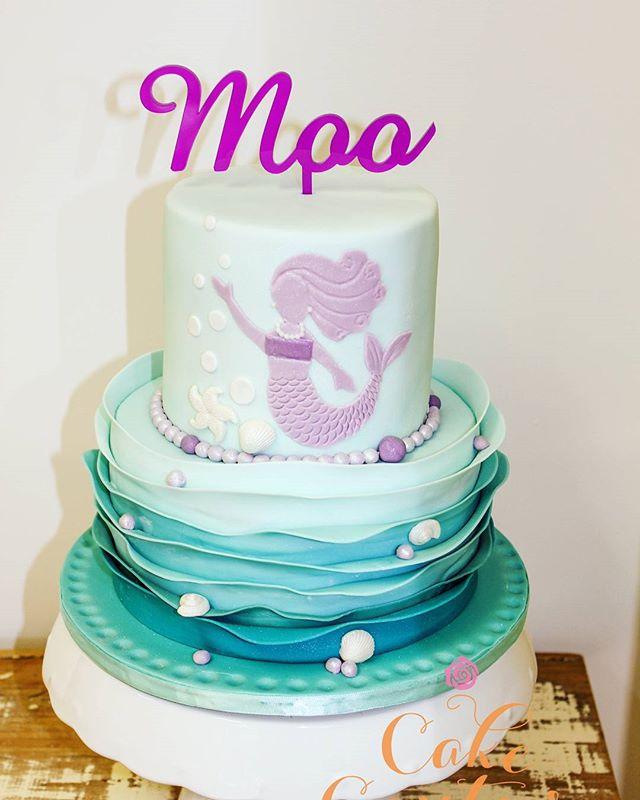 Mermaid Moo (original design is not mine)_#mermaidcake #rufflecake #mermaid #5thbirthdaycake