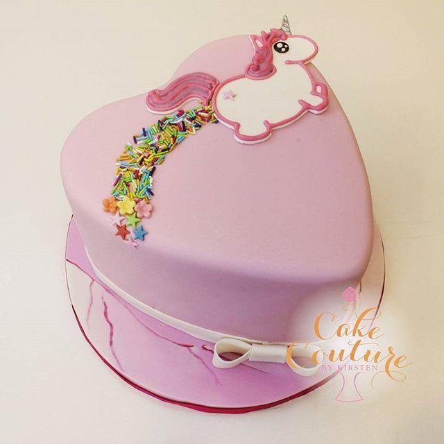 Cute Rainbow Farting Unicorn Cake for a 1st birthday