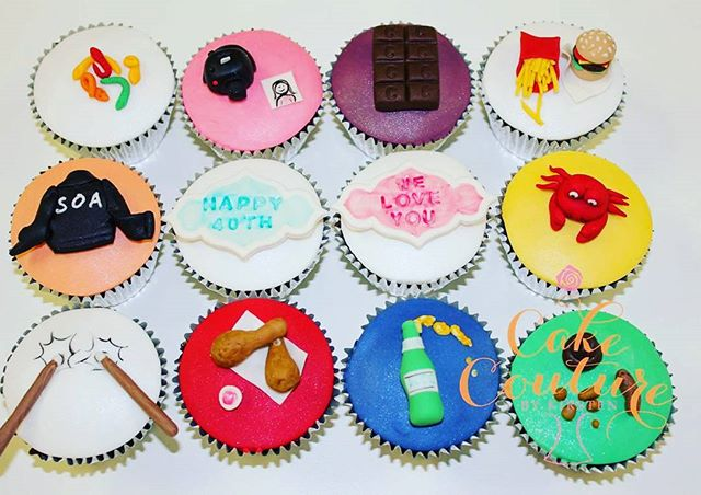 A few of Linda's favourite things_#40thbirthday #cupcakes #colourful #fun #minifoods #allenslollies