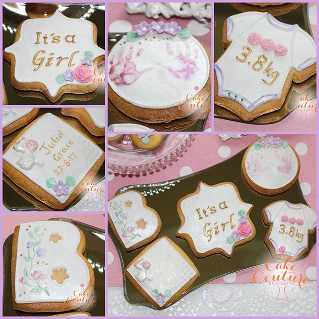 Welcome Baby Girl Cookies_A beautiful set of personalised cookies are a great gift idea for when you