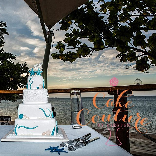 Love of the Sea_#weddingcake #airliebeach #montysresort #seashells #cornellipiping #beachwedding #st