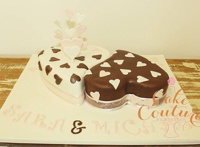 Ying and Yang_#engagementcake #yingandyang #heartcake #love