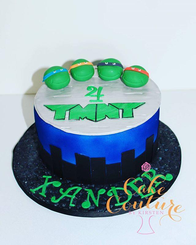 Turtle Power!_#teenagemutantninjaturtles #4thbirthday #turtles #tmntcake #borroweddesigns #citysilho