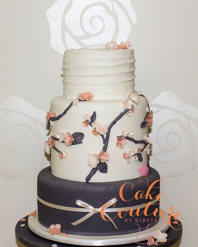 Peach Blossom_#weddingcake #4tiercakes #floralcake  #blossoms