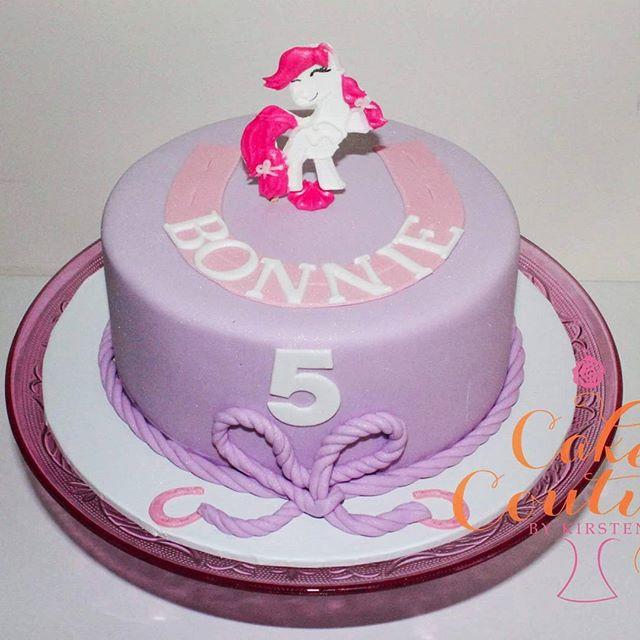 Bonnie's Pony Party_#ponycake #pony #horsecake #5thbirthdaycake #pinkandpurple #horseshoe #goodluckc