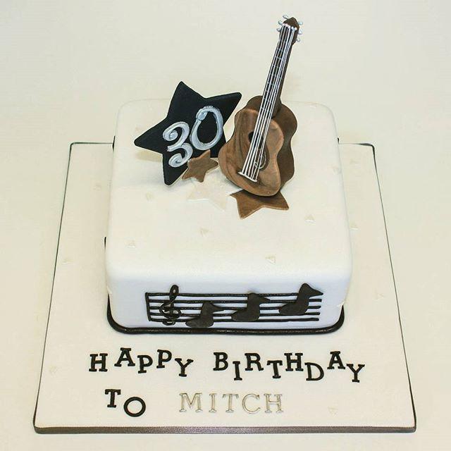 Acoustic guitar_#30thbirthday #guitarcake #acoustic #sugarpasteguitar #musicalcake