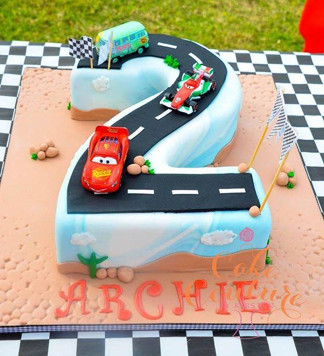 Cars Cake_#no2cake #carscake #2ndbirthdaycake