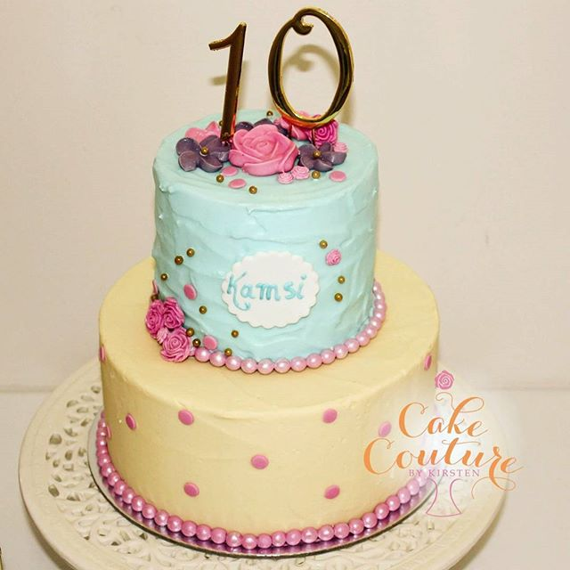 Sweet Kamsi turns 10_What a beautiful cake for a 10 year olds birthday party