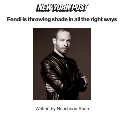 Fendi is throwing shade in all the right ways