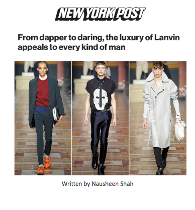 From dapper to daring, the luxury of Lanvin appeals to every kind of man