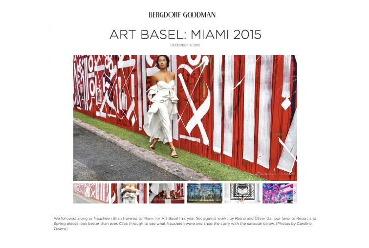 Bergdorf Goodman: Art Basel: Miami 2015