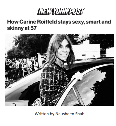 How Carine Roitfeld stays sexy, smart and skinny at 57