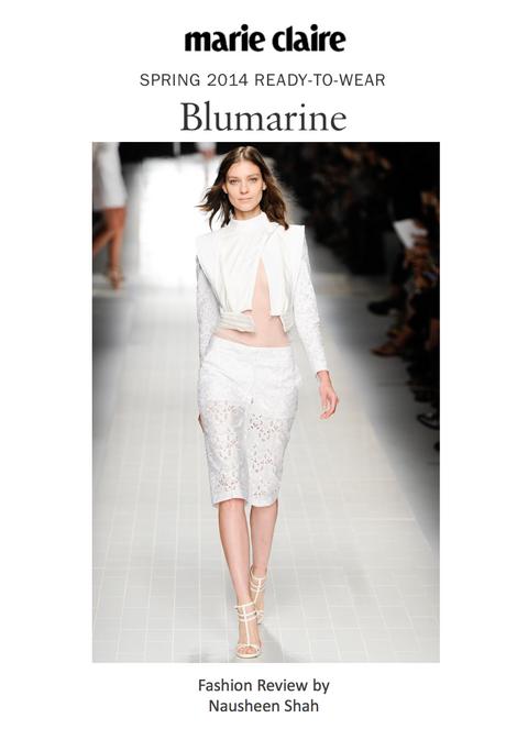 Marie Claire: Milan Fashion Week Spring/Summer 2014: Blumarine