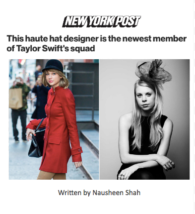 This haute hat designer is the newest member of Taylor Swift's squad