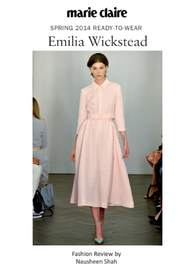 Marie Claire: London Fashion Week Spring/Summer 2014: Emilia Wickstead