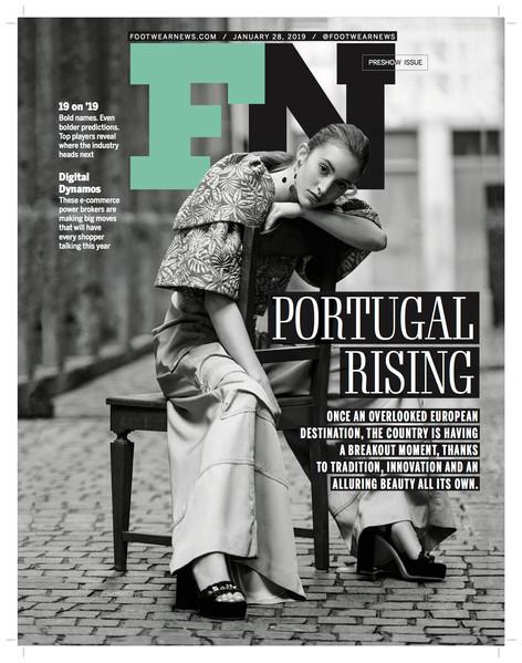 Footwear News January 2019 issue featuring Nausheen Shah x Monica Sordo EarSculptures