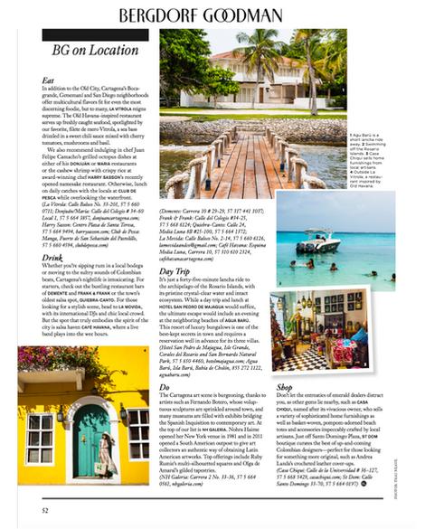 Bergdorf Goodman Travel Feature on Cartagena