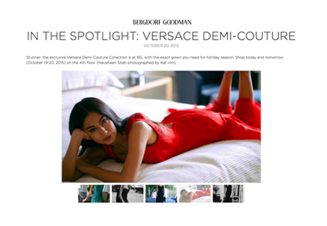 Bergdorf Goodman: In the Spotlight: Versace Demi-Couture