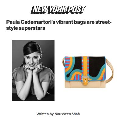 FASHION Paula Cademartori's vibrant bags are street-style superstars