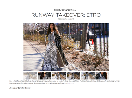 Bergdorf Goodman: Runway Takeover: Etro