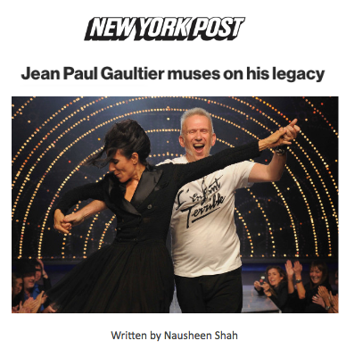 Jean Paul Gaultier muses on his legacy