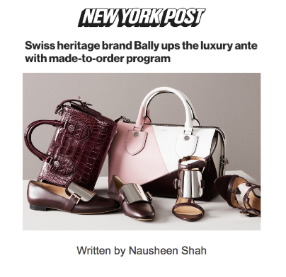Swiss heritage brand Bally ups the luxury ante with made-to-order program