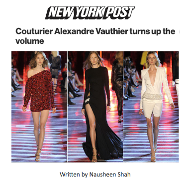 Couturier Alexandre Vauthier turns up the volume
