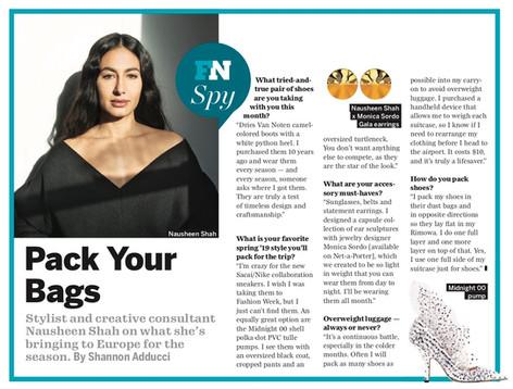 Footwear News February 2019 issue feature on Nausheen Shah