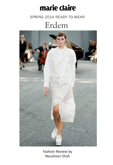 Marie Claire: London Fashion Week Spring/Summer 2014: Erdem