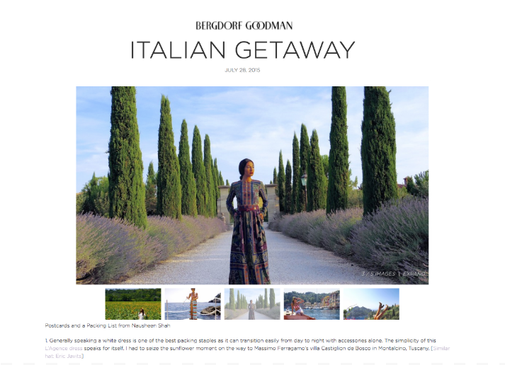 Bergdorf Goodman: Italian Getaway