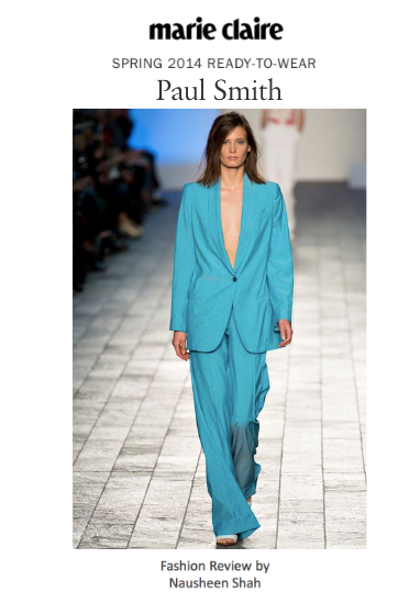 Marie Claire: London Fashion Week Spring/Summer 2014: Paul Smith