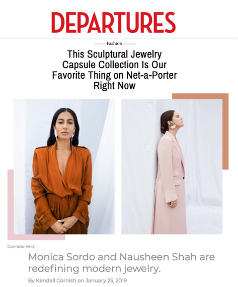 Departures Magazine feature on Nausheen Shah x Monica Sordo collaboration