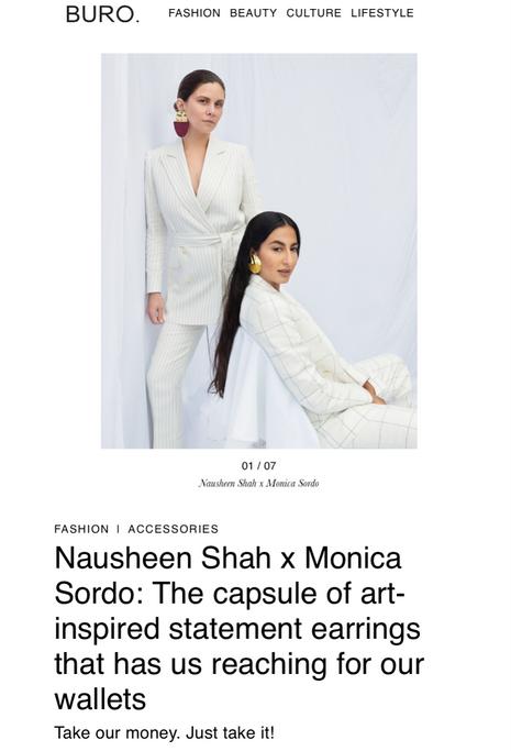 Buro 24/7 Singapore feature on Nausheen Shah x Monica Sordo collaboration