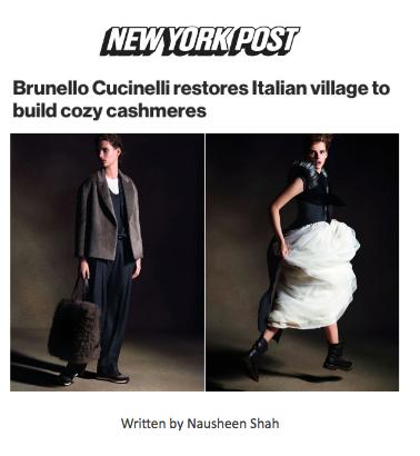 Brunello Cucinelli restores Italian village to build cozy cashmeres