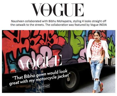 Vogue India: Nausheen Shah Styles 4 Bibhu Mohapatra Looks
