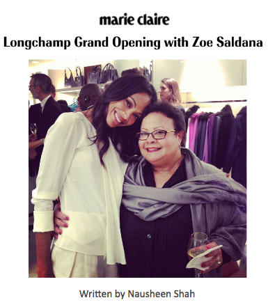 Marie Claire: Longchamp Grand Opening with Zoe Saldana