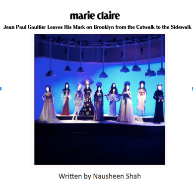 Marie Claire: Jean Paul Gaultier Leaves His Mark on Brooklyn from the Catwalk to the Sidewalk