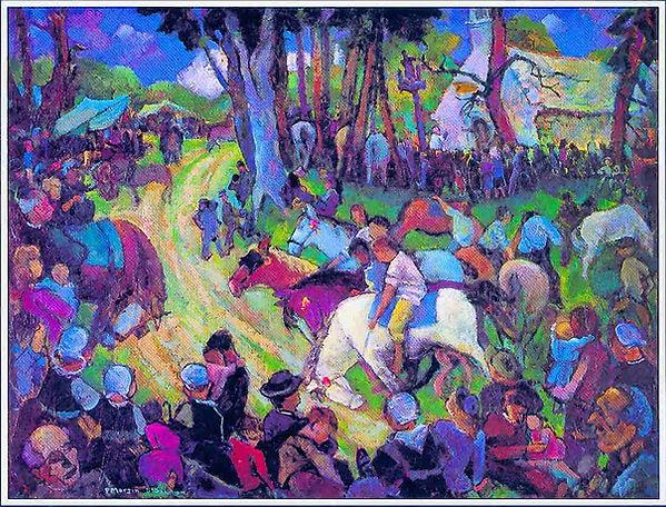 Peinture de Paul Marzin sur le Pardon St Salomon