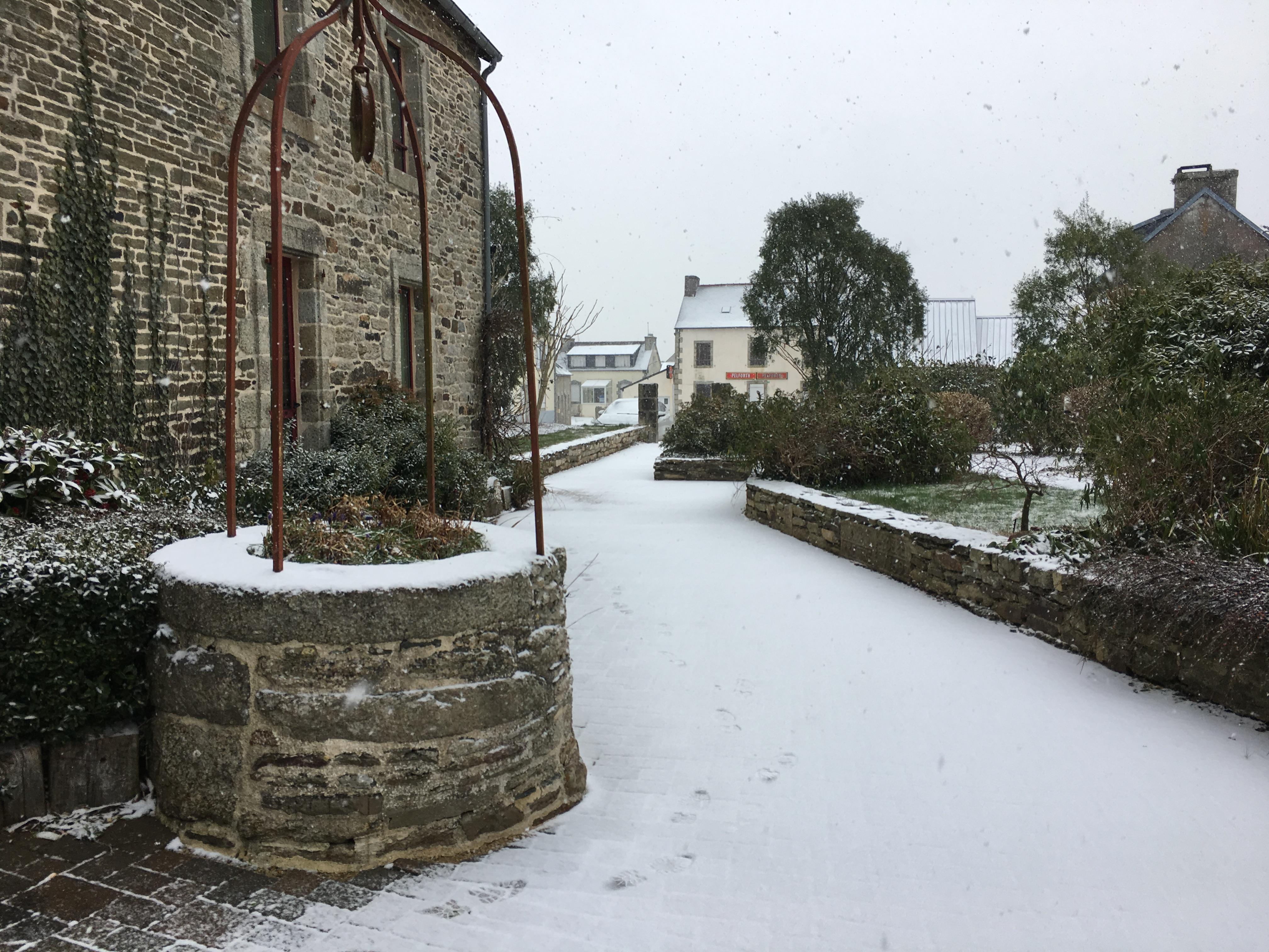 Mairie vue sous la neige 2018