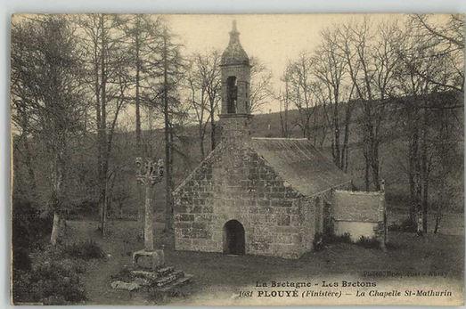 Chapelle Saint Mathurin Plouyé carte postale ancienne