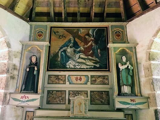 Peinture descente de croix chapelle Saint Mathurin Plouyé