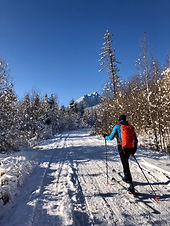 """Na začatie so skialpom sú vhodné mesiace (kedy je dostatok snehu na kopcoch)  - December, Január, Ferbuár a Marec.   V prípade nedostatku snehu sa dohodne náhradný termín.  V prípade, že máte vlastnú výstroj, cena sa mení na : 52€/osoba  Pre tento kurz je nevyhnutné: - mať viac ako 14 rokov - pokročilé znalosti lyžovania - dobrú kondičku  Čo si zbaliť so sebou? Určite lyžiarske oblečenie - najlepšie vo vrstvách Vrchná časť  -  pri výstupe ideme """"naľahko, to znamená, že stačí termo a funkčná bundička či vesta. Na zjazd dolu nám už treba teplejšiu bundu. Odporúčame si zobrať extra termo na prezlečenie, aby ste pri zjazde dole nešli mokrí a neprechladli. Spodná časť – tenšie nohavice, v ktorých sa vám pohodlne pohybuje. Nič veľmi hrubé ani ťažké. V prípade veľkej zimy môžete pod ne dať termo.  Rukavice – tenké na výšľap hore, hrubšie na jazdu dole Prilba – odporúčame v rámci vašej bezpečnosti Okuliare – slnečné a prípadne aj lyžiarske na jazdu dole Ruksak – určite sa zíde na zbalenie vecí na prezlečenie a na jazdu dole, na vodu či termosku s čajom a nejaký ten snack"""