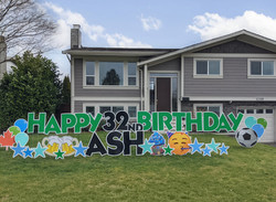Green Birthday Sign